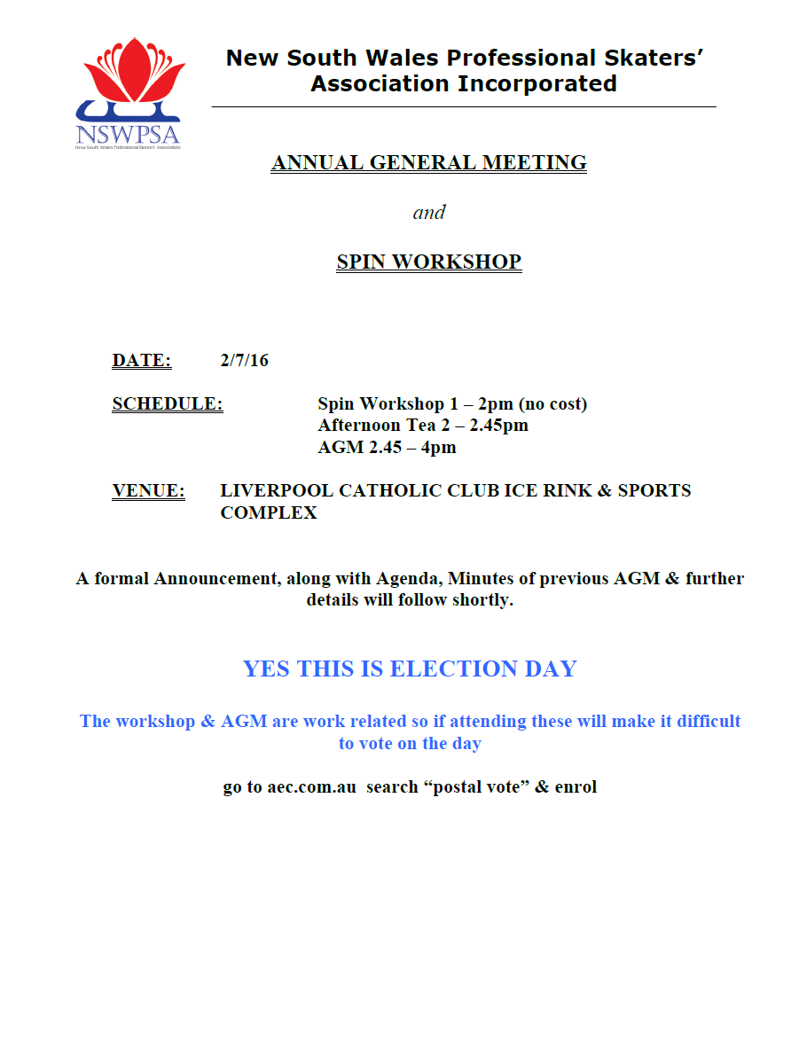 NSWPSA AGM Notice